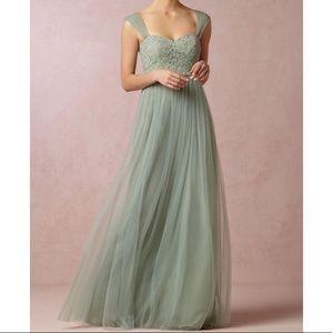 BHLDN anthropologie dress. Color:Sage size 2